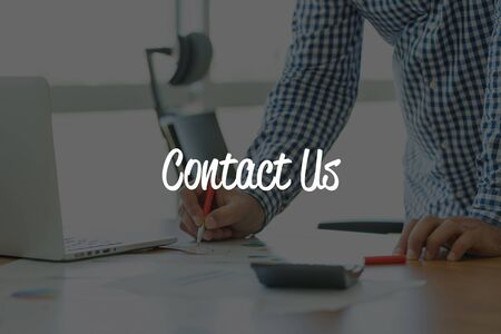 contactus: BUSINESS OFFICE WORKING COMMUNICATION CONTACT US BUSINESSMAN CONCEPT