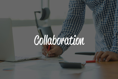 business relationship: BUSINESS OFFICE WORKING COMMUNICATION COLLABORATION BUSINESSMAN CONCEPT