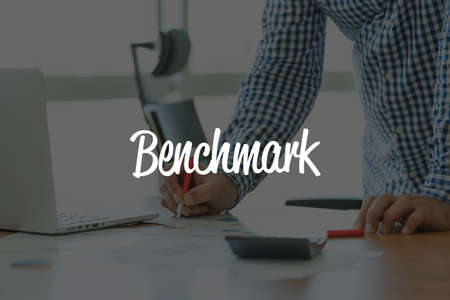 benchmark: BUSINESS OFFICE WORKING COMMUNICATION BENCHMARK BUSINESSMAN CONCEPT