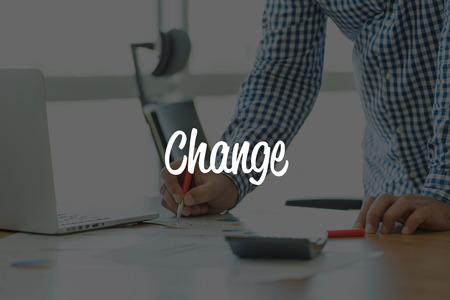 business change: BUSINESS OFFICE WORKING COMMUNICATION CHANGE BUSINESSMAN CONCEPT