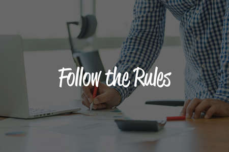 leading education: BUSINESS OFFICE WORKING COMMUNICATION FOLLOW THE RULES! BUSINESSMAN CONCEPT