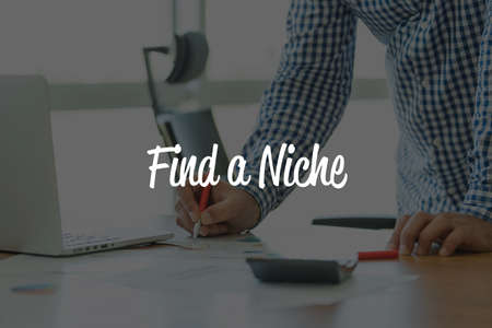 specialize: BUSINESS OFFICE WORKING COMMUNICATION FIND A NICHE! BUSINESSMAN CONCEPT