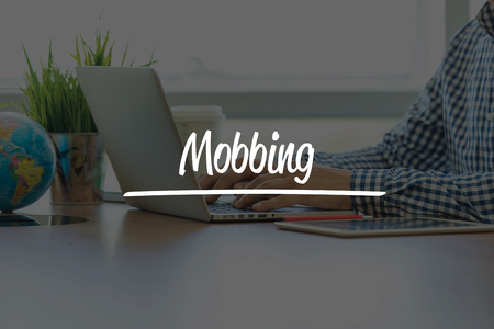 mobbing: BUSINESS OFFICE WORKING COMMUNICATION MOBBING BUSINESSMAN CONCEPT