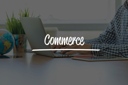 commerce communication: BUSINESS OFFICE WORKING COMMUNICATION COMMERCE BUSINESSMAN CONCEPT