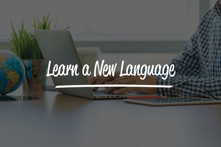 fluency: BUSINESS OFFICE WORKING COMMUNICATION LEARN A NEW LANGUAGE BUSINESSMAN CONCEPT