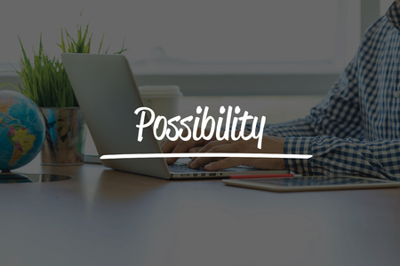 possibility: BUSINESS OFFICE WORKING COMMUNICATION POSSIBILITY BUSINESSMAN CONCEPT