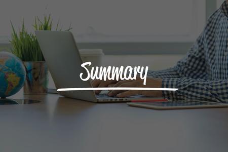 compendium: BUSINESS OFFICE WORKING COMMUNICATION SUMMARY BUSINESSMAN CONCEPT