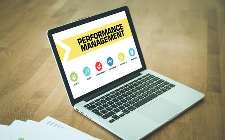 summarized: Performance Management Concept on Laptop Screen