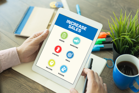 increase sales: Increase Sales Concept on Tablet PC Screen Stock Photo