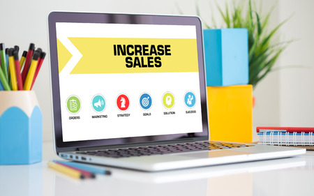 increase sales: Increase Sales Concept on Laptop Screen