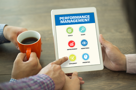 documented: Performance Management Concept on Tablet PC Screen