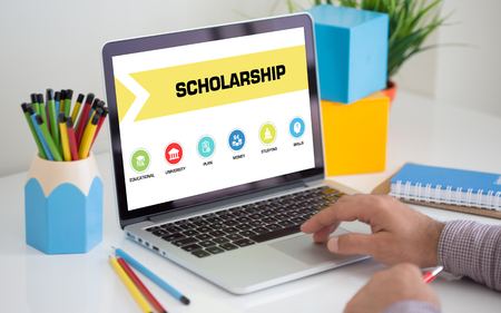 scholarship: Scholarship Concept on Tablet PC Screen
