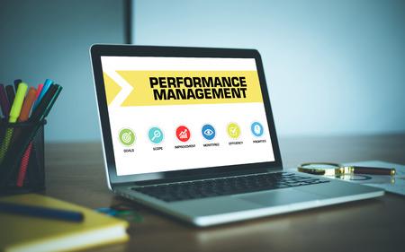 Performance Management Concept on Laptop Screen