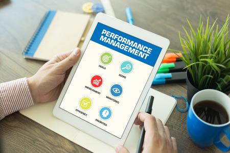 intervenes: Performance Management Concept on Tablet PC Screen