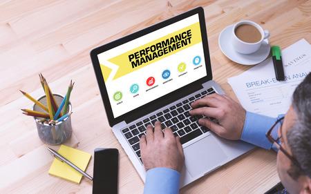 intervenes: Performance Management Concept on Laptop Screen