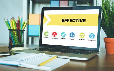 effective: Effective Concept on Laptop Screen