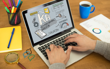 KPI Concept on Tablet PC Screen