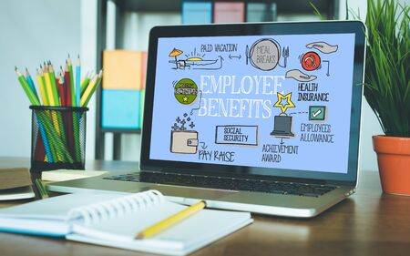 provision: Employee Benefits Concept on Tablet PC Screen Stock Photo