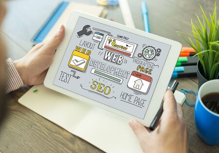 xhtml: Web Development Concept on Tablet PC Screen