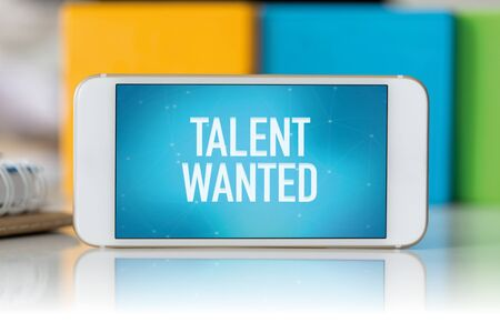 Smart phone which displaying Talent Wanted Reklamní fotografie