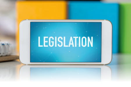 Smart phone which displaying Legislation