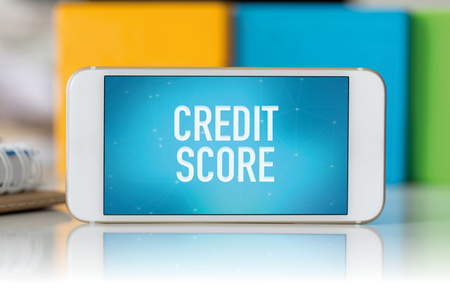 Smart phone which displaying Credit Score