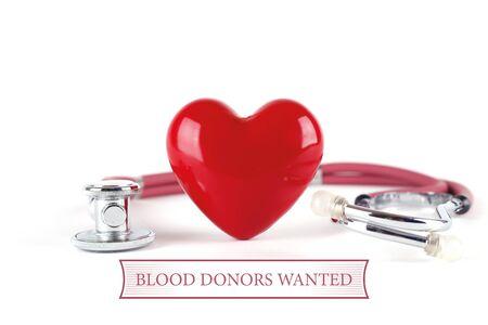 Concepto de la salud donantes de sangre QUISO