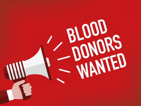 observance: BLOOD DONORS WANTED Illustration