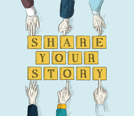 multi story: SHARE YOUR STORY Illustration