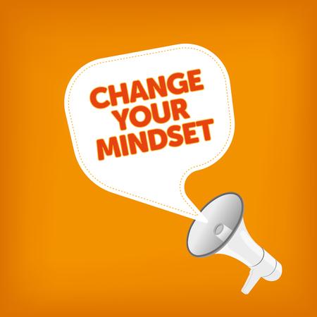 mindset: CHANGE YOUR MINDSET Illustration
