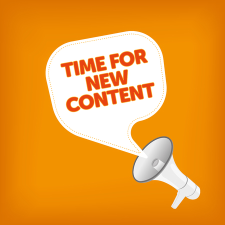 keywords bubble: TIME FOR NEW CONTENT