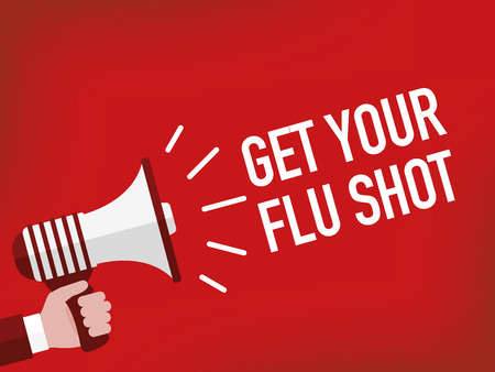 diabetes syringe: GET YOUR FLU SHOT