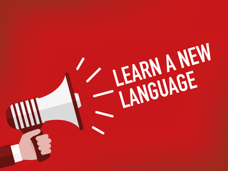 fluency: LEARN A NEW LANGUAGE Illustration
