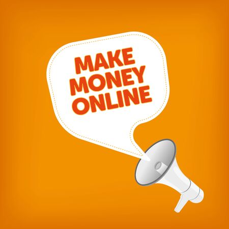 smart goals: MAKE MONEY ONLINE Illustration
