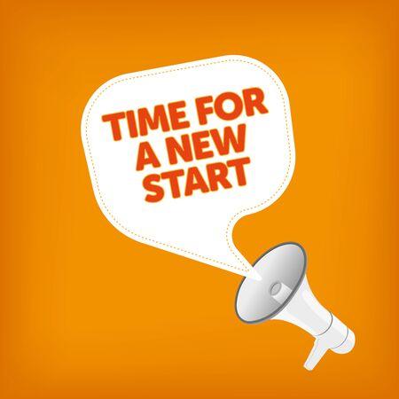 new start: TIME FOR A NEW START