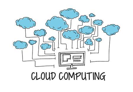 Cloud Computing  イラスト・ベクター素材