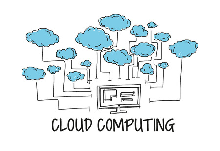 Cloud Computing Stock Illustratie