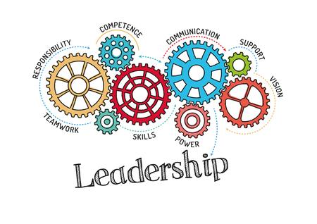 Gears en leiderschap Mechanism Stock Illustratie