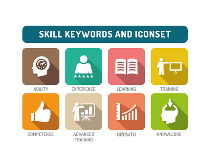 skill: Skill Flat Icon Set