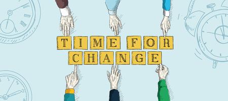 achievement clip art: TIME FOR CHANGE Illustration