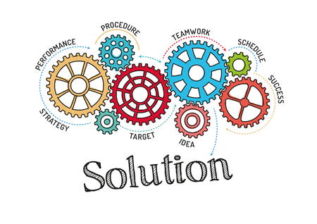 solution: Gears and Solution Mechanism Illustration