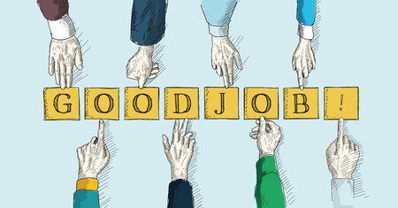 good: GOOD JOB! Illustration