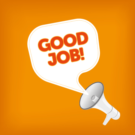good news: GOOD JOB! Illustration