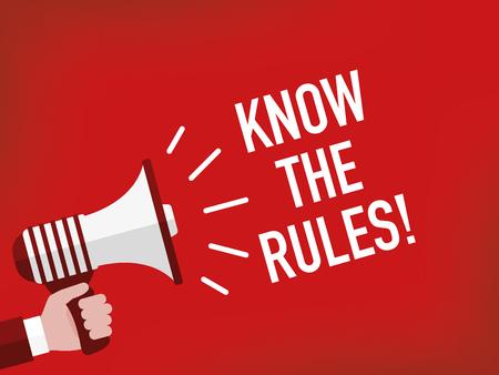 Conocer las reglas!