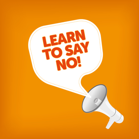confide: LEARN TO SAY NO!