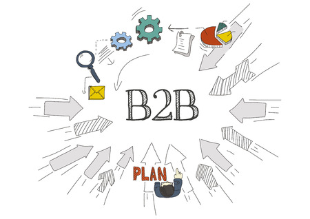 b2b: Las flechas muestran B2B Vectores