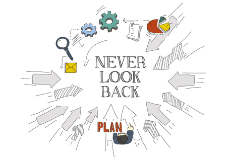 forthcoming: Arrows Showing NEVER LOOK BACK