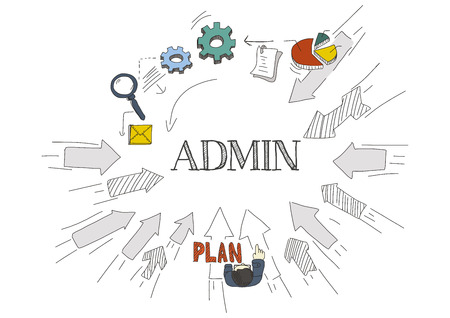 admin: Arrows Showing ADMIN