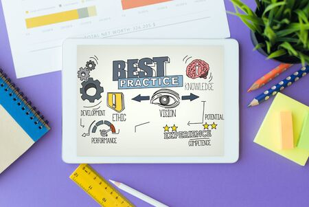 leading education: Best Practice Concept on Tablet PC Screen
