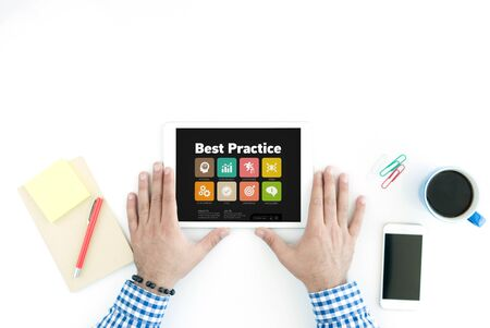 working ethic: Best Practice Concept on Tablet PC Screen